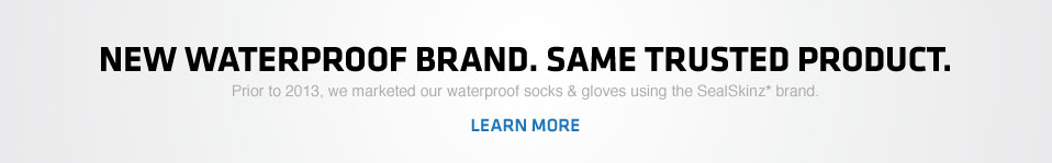 New Waterproof Brand. Same Trusted Product.